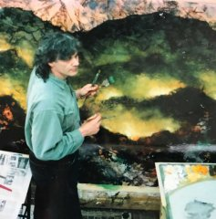 Painting a large fire